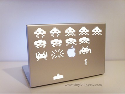 Space Invaders Laptop