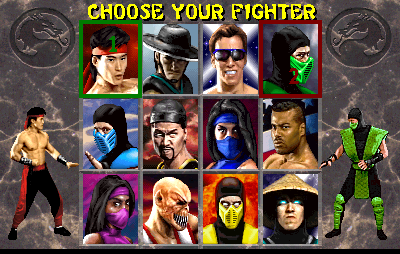 Mortal Kombat II: Choose Your Fighter: SNES